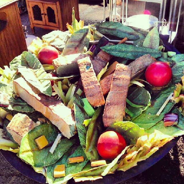 This giant salad needs some tossing! You can find it in B97!