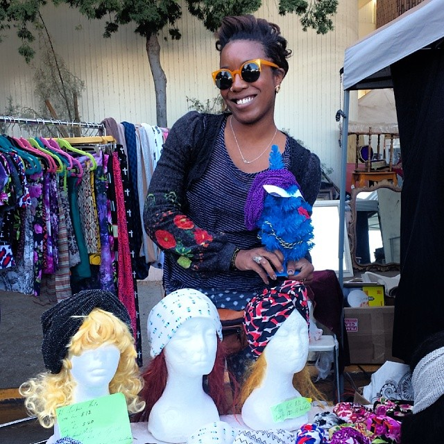 The #TradingPostTrees love Shameka's handmade scarves and headbands.  They make great holiday presents for those looking to #shoplocal this holiday season!  She is in B72 today!