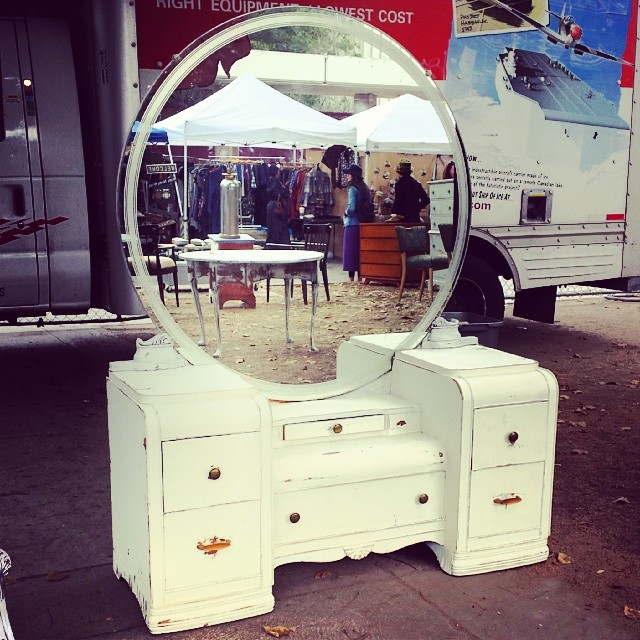 Vanity Fair? More like Vanity Flea Market! We love this gorgeous antique vanity from Roberto in G3 by the Melrose entrance.