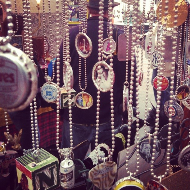 Long time vendor in B83 with cool #bottlecap #art #necklaces Show them some love