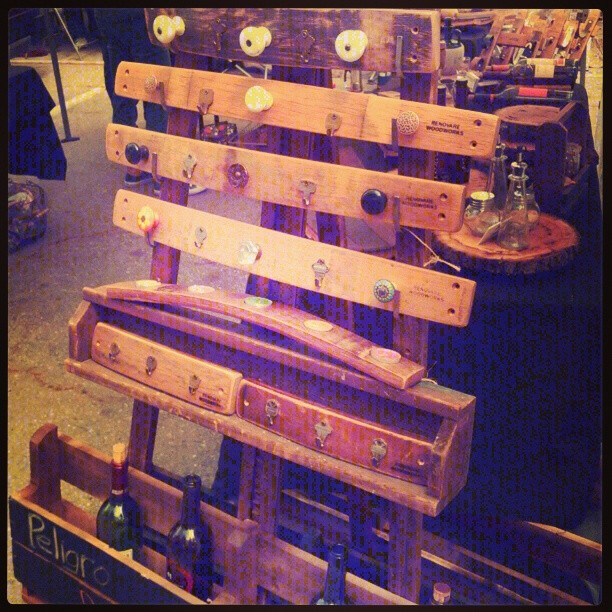 #repurposed wine barrel staves into wine racks #candle arches in @renovarewood B88 #MelroseTradingPost #Melrose #Fairfax #losangeles #California #california_igers #Cali_igers #weho #midcitywest #fleamarket #melrosevillage #fairfaxvillage #market #fundraiser #socialentrepreneurship #shoplocal #sundayfunday #melroseflea #fairfaxflea #fairfaxhighschool