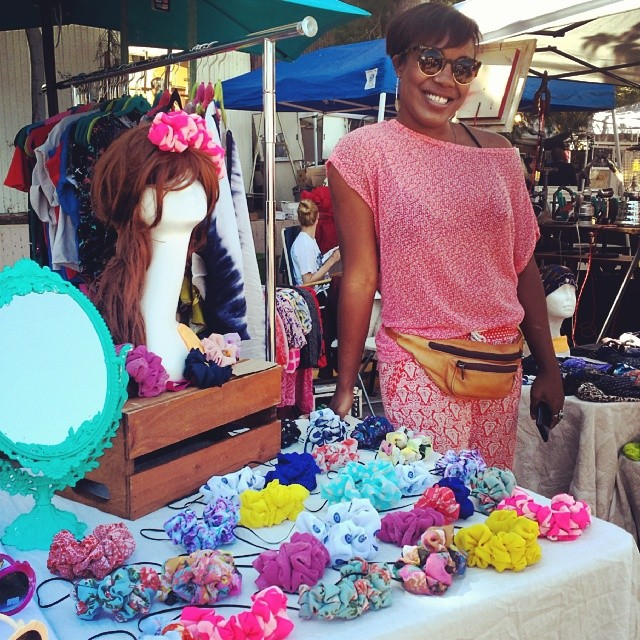 Shameka's booth, B73, features her new line of headbands...just in time for #Coachella!  #MTPfairfax
