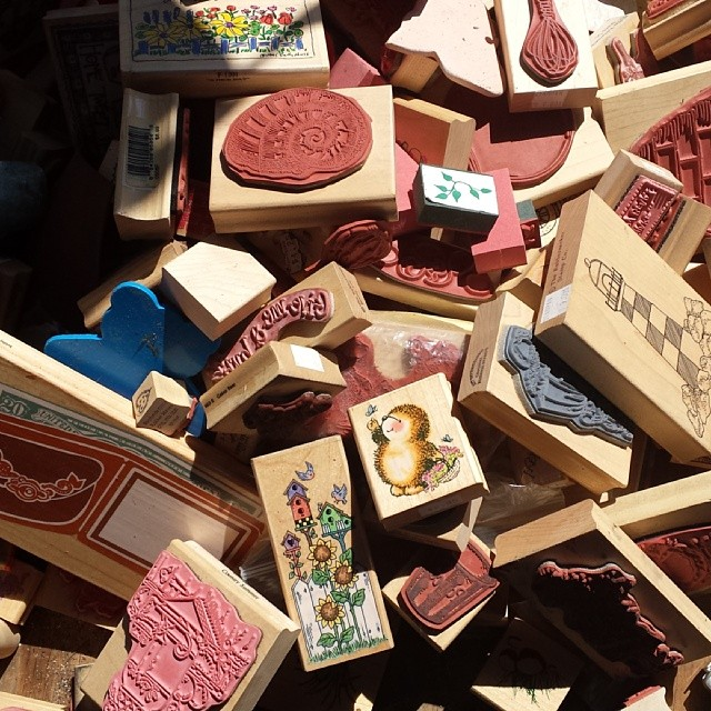 A Crafter's Dream... A pile of rubber stamps! #MTPfairfax