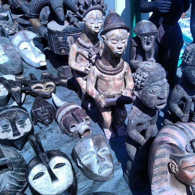 Kissemah in B20 has several masks and statues from Africa today! #MTPfairfax