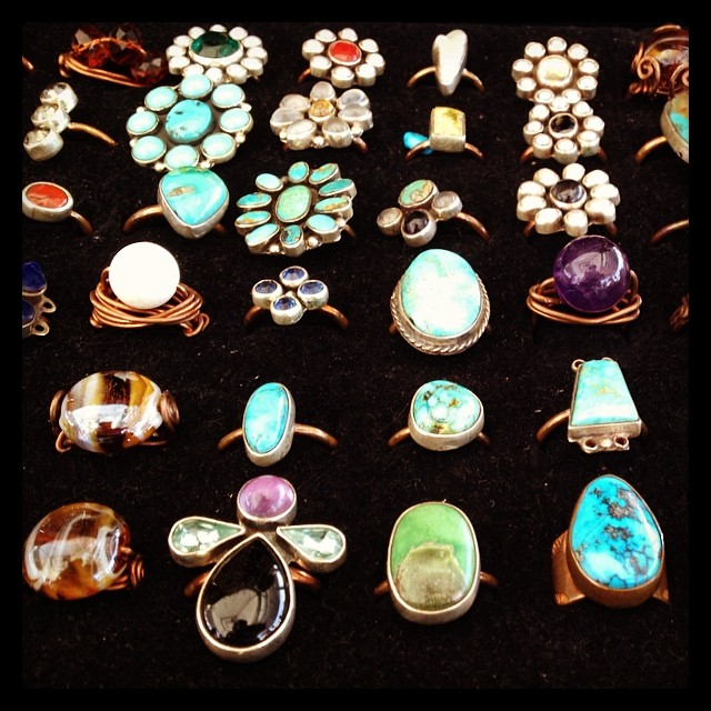 Beautiful rings created by Carlos Gutierrez! He has some amazing Mexican folk jewelry and accessories - we love it all!