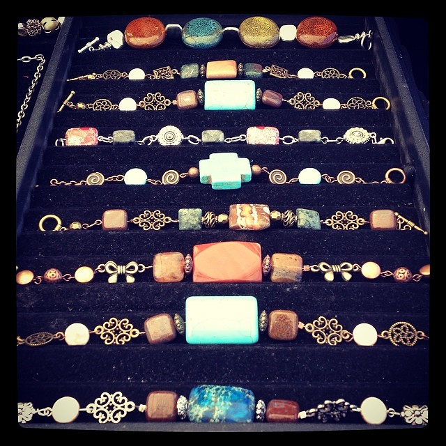 Beautiful bracelets made by the ever talented Alejandra Acosta!Everyone's wrist needs one of these... Or two!