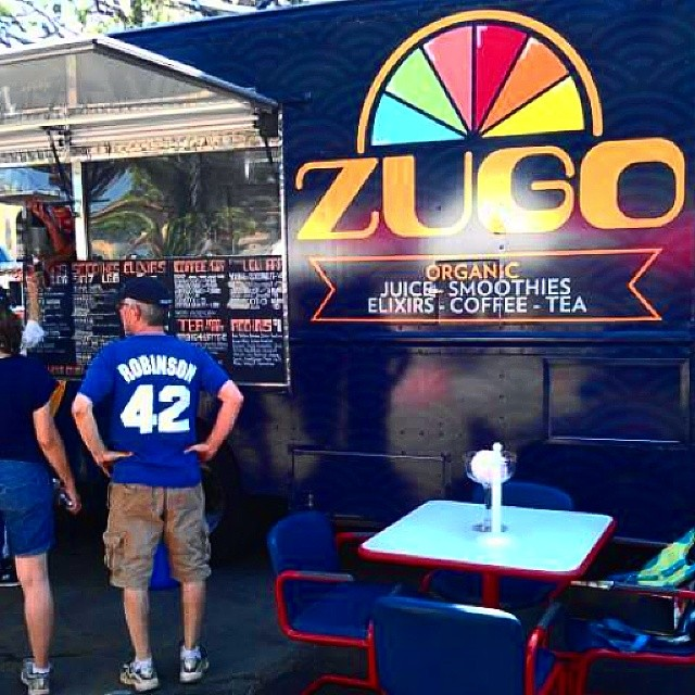 Clearly this Dodgers fan knows how to properly start his #SundayFunday! The @zugotruck is in the Y section today. Check them out in Y4A of our brand new area!