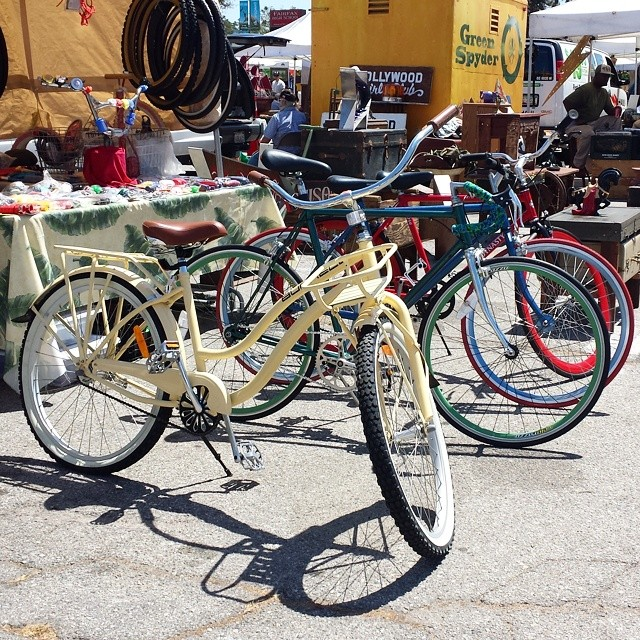 Otis and Brenda Burrell of Burrell Redeux will customize a bicycle for you, or you can purchase one of their repurposed bike creations at #MTPfairfax!