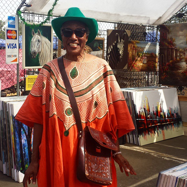 MTP's Art Lady, Carol, always has a big smile and a fantastic outfit on.  She's the best art dealer around! #MTPfairfax #ShopLocal #SupportTheArts