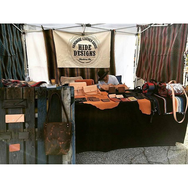 So happy to have @hidedesigns at the market today!  Kellen is set up in B46.  Check out his awesome instagram!  #MTPfairfax #ShopLocal #HideDesign
