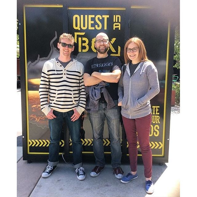 They escaped from the #QuestInABox #EscapeRoom by @EscapeKeyRoom in 18 minutes!! #MTPfairfax #PeopleOfMTP