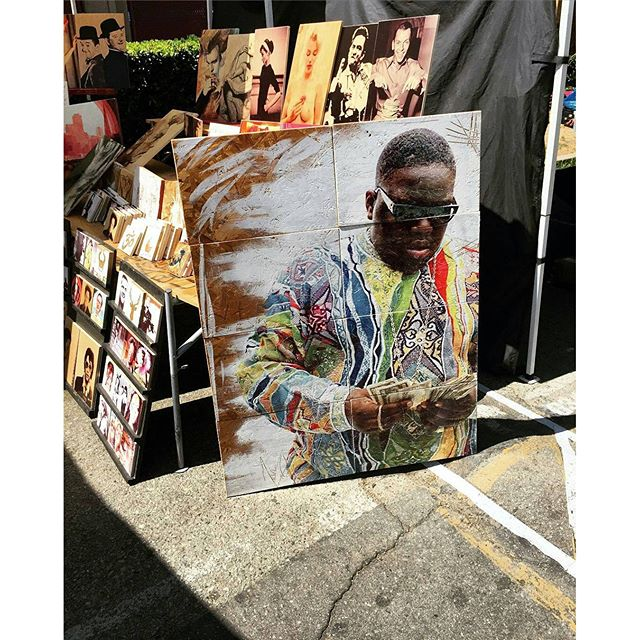 @Regrann from our favorite fashion photography account, @fleastylefashion -  Unbelievable Art today @melrosetradingpost.#melrosetradingpost#melrose #fairfax #fleamarket #losangeles #california #sundayfunday  #fashion #art #style #fleastylefashion #notoriousbig