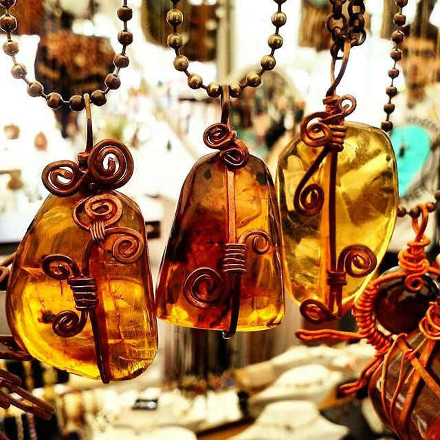 Longtime permanent vendor, @eduardosleather joined instagram!  Send them some love for their gorgeous Amber necklaces wrapped in copper, Mayan style. Their family sets up in space b114 every #SundayFunday! #melrosetradingpost #mtpfairfax. #losangeles #Cystals #crystal #copper #Amber #melrose #fairfax #fleamarket #california