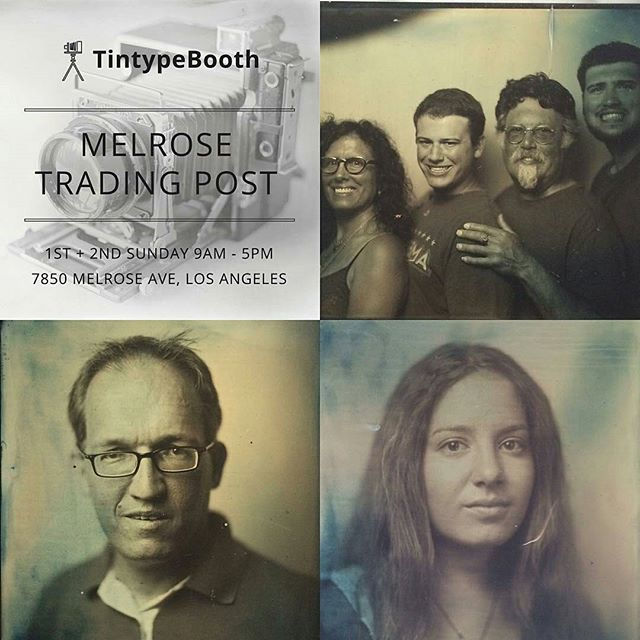 Need a thoughtful present? Give someone the gift of your face on a #tintype photo print! @jasonmads is here is B73 taking photos till 5pm! #MTPfairfax #ShopLocal #PeopleOfMTP #TinTypeBooth#melrosetradingpost #melrose #fairfax #fleamarket #losangeles #california #sundayfunday