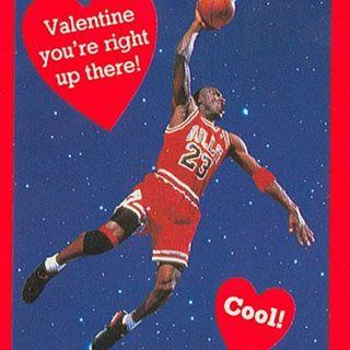 Happy Valentine's Day!You're a slam dunk! #90sValentine #MichaelJordan #ValentinesDay #MelroseTradingPost #VintageValentine