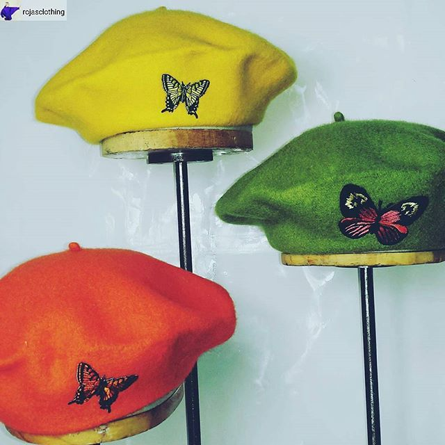 We are in LOVE with these berets from @rojasclothing!!  #MelroseTradingPost #Rojasclothing #mtpfairfax #melrose #Fairfax #fleamarket #losangeles #california #sundayinla #shoplocalla #SundayFunday #shoplocal