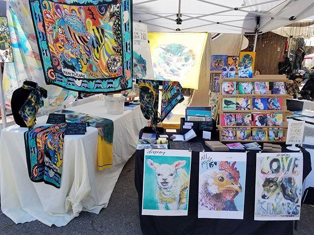 Artist Silvia Gallini's artwork makes the market look so colorful!! Check her out at @silviagallini.#Melrosetradingpost #Mtpfairfax #melrose #fairfax #fleamarket #losangeles #california #Sundayfunday #shoplocalla #sundayinla #shoplocal #silviagallini