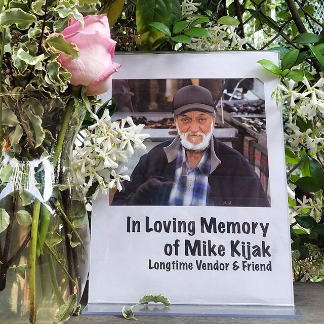 This Sunday, Greenway Arts Alliance is remembering longtime vendor and friend, Mike Kijak.  Mike passed away last week, and we will have a memorial set up in his booth, B115.Come to MTP and share your memories of Mike's 20+ years of selling on the Fairfax High School campus.  Bring flowers, photos and notes to Mike and his loved ones. Mike's family is the market, and we are proud to have him as an original vendor.  He was with us on the very first day, and we will never forget his kindness. See you Sunday #MelroseTradingPost #Mtpfairfax #melrose #fairfax #fleamarket #losangeles #california #Sundayfunday #shoplocalla #sundayinla #Mikekijak #PeopleofMTP #communitymarket