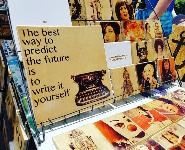 The best way to predict the future is to write it yourself.  As seen in the  @sticksandlasers booth, G35!.#melrosetradingpost #Mtpfairfax #melrose #fairfax #fleamarket #losangeles #california #Sundayfunday #shoplocalla #sundayinla #shoplocal #sticksandlasers