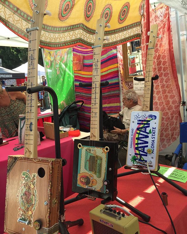 My flea market pick of the week goes out to Jeff and his beautiful cigar box guitars! So dang unique and so crafty!