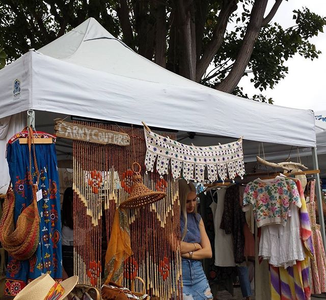 Our friends from @carnycouture have such a beautiful booth! #melrosetradingpost #mtpfairfax #Melrose #fairfax #fleamarket #losangeles #california #Sundayfunday #carnycouture #vintagefashion #fleamarketstyle #vintage