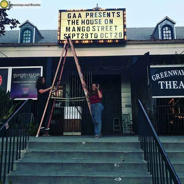 Greenway Arts is getting ready to open the latest show at the Greenway Court Theatre next week, The House On Mango Street, adapted by Amy Ludwig from the novel by Sandra Cisneros. September 29 - October 28 and tickets @greenwaycourttheatre #greenwaycourttheatre #Greenwayarts #greenwayreads #fairfax #melrose #greenwayhoms #greenwaymarqueemorphosis #melrosetradingpost