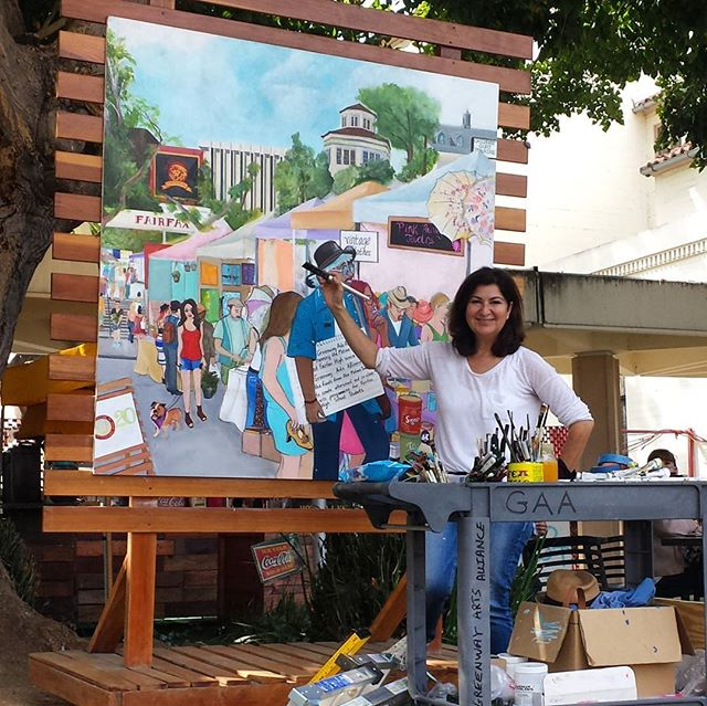 We love the murals @shelleytheartist has made for our 20th anniversary celebration tomorrow.  Her hard work has produced beautiful pieces that tell the story of the Melrose Trading Post and the Greenway Court Theatre!  Check them out in person tomorrow!! #melrosetradingpost #mtpfairfax #Melrose #fairfax #fleamarket #losangeles #california #Sundayfunday #shelleytheartist #greenwayartsalliance #Greenwayarts #GreenwayTwenty #greenwaycourttheatre @greenwayartsed @greenwaycourttheatre
