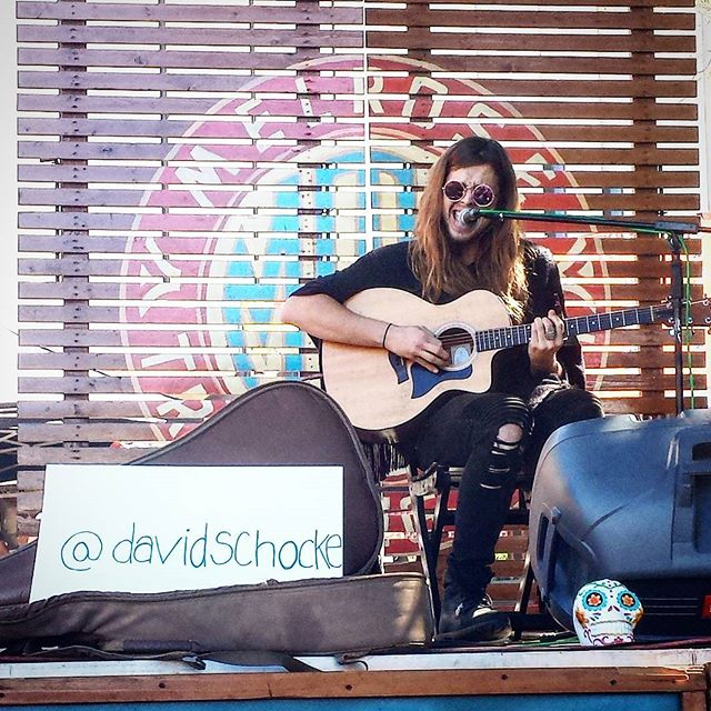 @davidchocke is playing on the main stage right now!! Don't miss him :3 #melrosetradingpost #losangeles #california #behappy #Musicofmtp