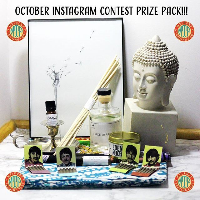 INSTAGRAM CONTEST ALERT!!Show your local love and win a fabulous prize!  In celebration of our 20th anniversary year, we are giving away several MTP prize packs! This month's prize is the MTP ZEN Prize Pack featuring goodies from @rxcandles, @bag.o.bones @king_margot @billydelpuerto @noratreasures @tapestryguru and more! Here's how to enter:1. If you're in LA, come to MTP this or next Sunday (10/22 or 10/29).2. Take a photo of yourself with your favorite vendor 3. Post the photo on Instagram with the hashtags #ShopLocalLA and #MelroseTradingPost AND tag @melrosetradingpost. The last day to post is October 30th, winner will be announced on Instagram on Halloween!Winner must be in LA to pick up the prize pack from MTP in the month of November. ..#MelroseTradingPost #ShopLocalLA #LosAngeles #California #melrose #Fairfax #fleamarket #losangelescontest #FairfaxFlea #MelroseFlea