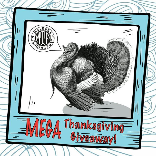 "MEGA THANKSGIVING GIVEAWAY!!!As a Thank YOU for our 20 years at Melrose & Fairfax, we are giving away a fabulous prize pack filled with goodies from the market. The 2nd photo is of the awesome prizes! HOW TO ENTER1.Take a photo of yourself shopping at your favorite booth at the Melrose Trading Post.2. Post the photo on Instagram with the phrase ""I Love to Shop Local!""3. Tag @MelroseTradingPost and the hashtags #MelroseTradingPost and #ShopLocalLA.Post your photos now through Thanksgiving weekend, and we'll announce the winner on Sunday, November 26th. We will re-post our favorite entries on our this account. Winner must be able to pick up the prize from the Melrose Trading Post in December 2017...#InstagramContest #losangeles #melrose #fairfax #giveaway Goodies from:@shelleytheartist @bag.o.bones @rxcandles @billydelpuerto @tapestryguru @noratreasures @kubully @jasonmads @anenglishmaninla @sticksandlasers @urbngeomtry @mutante_leathers @king_margot"