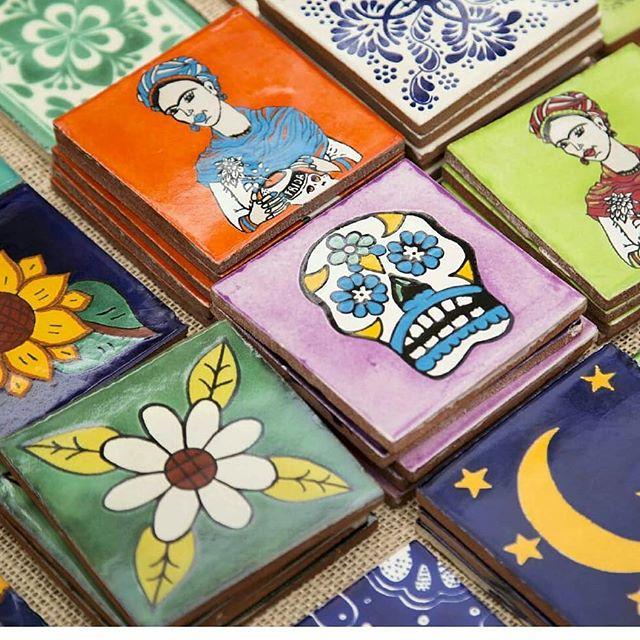 Shop Local with @seagypsycalifornia at the Melrose Trading Post!...#Repost from @patrick_pendingFrida   Skull   Flower   Moon#melrosetradingpost #seagypsycalifornia #shoplocalla #fridakahlo #tile #handpainted