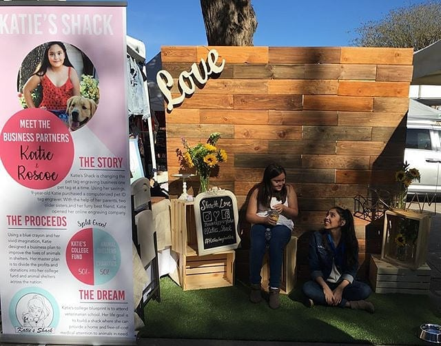 Thank you to @katies_shack for sharing your love of dogs with us. Katie is a young entrepreneur who is supported by her family. Katie's vision is beautiful and we're honored to have it at the Melrose Trading Post! ...#Dogsofmtp #melrosetradingpost #youngentrepreneur #kidboss #sundayfunday #dogsofinstagram #losangeles #tradingpost #ceo #family #entrepeneur #bigsister #love #photobooth #sunflowers #pettags #keychains #awesome #livingthedream : @katies_shack