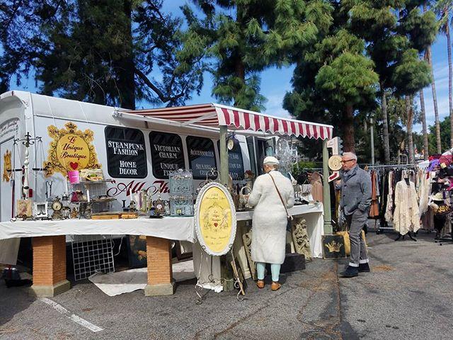 Le Unique Boutique is at the Fairfax and Clinton entrance with gorgeous antique and vintage finds! Follow their truck at @leuniqueboutique. ...#leuniqueboutique #Melrosetradingpost #antiques #vintage #shoplocalla #sundayinla #smallbusiness