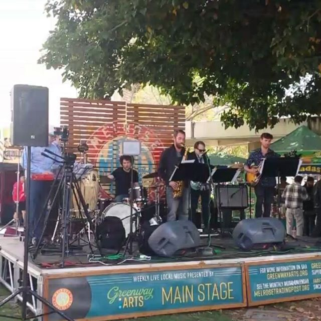 Jeff Pifher Band is getting jazzy on stage :) Enjoy the music because they are on the main stage till 4:15 pm #Musicofmtp #melrosetradingpost #Mtpfairfax #fleamarketsunday #losangeles #california #Sundayfunday #fleamarket