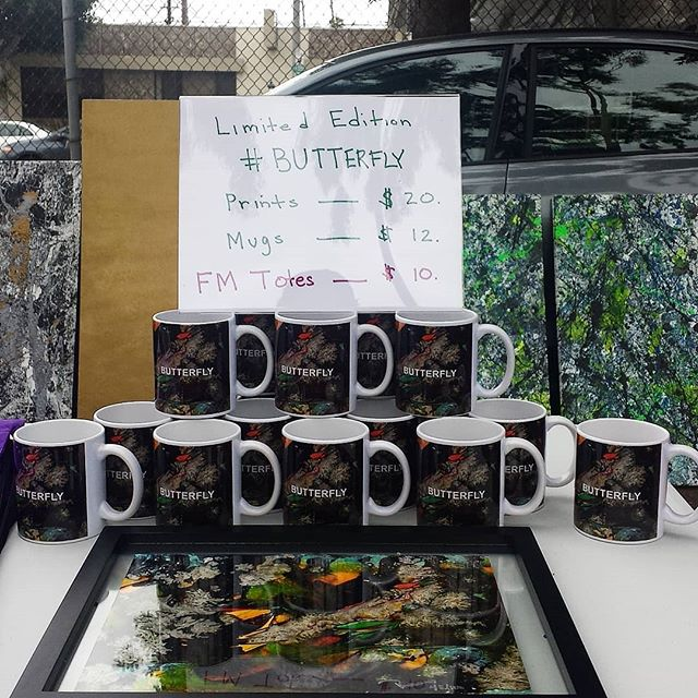 Really cool art work, mugs, and FM Totes on Y37 :) #melrosetradingpost #Mtpfairfax #losangeles #california #sundayfunday #fleamarket Come check it out! !!