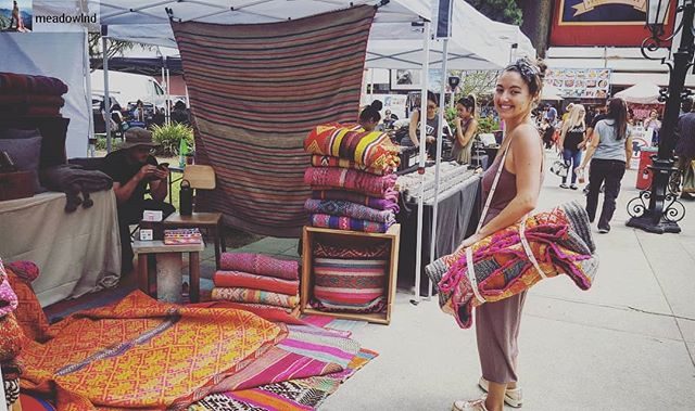 See you tomorrow for another beautiful #SundayFunday!...Post from @meadowlnd:We're at it again; come say Hi and find the frazada that speaks to you Sunday @melrosetradingpost ... #mtp #shopping #lascene #melrosetradingpost #happycustomer #shop #shopmeadowlnd #frazadas #rugs #blankets #handmade #peruviangoods #smallbusiness #meadowlnd #handcrafted #handwovenblankets #hollywood #thingstodoinla #shoplocal #ruglife #rugtrends #bohoshop #bohodreams #bohodecor #ecclecticdecor #homedecor #melrosetradingpost