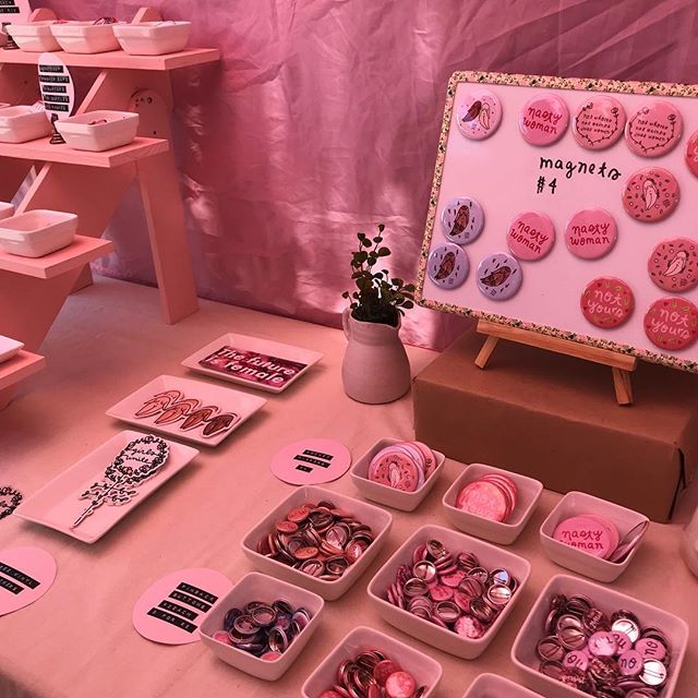@littlewomangoods booth is so dreamy!! you know your laptop is dying for some new stickers check them out!!! ...#melrosetradingpost #melrose #fairfax #fleamarket #vendorspotlight #losangeles #fleamarketfinds