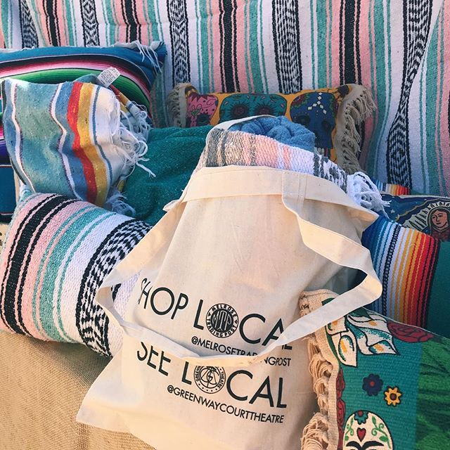 @seagypsycalifornia blankets and our Shop Local totes look so good together, we had to hit you guys with that double post ..All proceeds from the Greenway Pop Up @ Melrose Trading Post go towards initiatives, such as programs supporting Fairfax High School students! ️..#melrosetradingpost #vendorsofMTP #melrose #fairfax #losangeles #shoplocal #seelocal