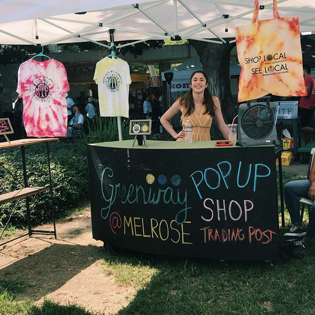 Guess what's new at the Greenway Pop Up....... HAND DYED MTP T-SHIRTS!!! Pick one up today for back to school!! ..#greenway #melrosetradingpost #greenwayarts #nonprofit #greenwaypopup #fleamarket