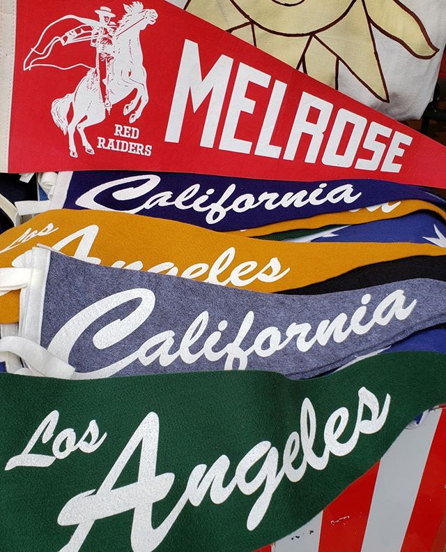 Last Sunday we spotted these gorgeous vintage pennant flags. What will you find this Sunday at MTP? ...#melrosetradingpost #melrose #fairfax #california #losangeles#pennantflag #Vintage #fleamarket #fleamarketfindings