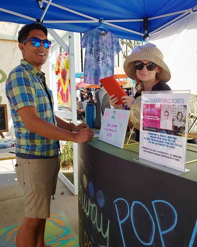 Nolan is taking the arts in LA survey to enter to win tickets to see @beck at the @hollywoodbowl!! Come to the Greenway Pop Up Shop to enter the drawing! We'll be picking the winner today at 4pm, so come on down!...#MelroseTradingPost #melrose #fairfax #fleamarket #losangeles #sundayinla #sundayfunday #peopleofmtp #musicofmtp #beck #hollywood #hollywoodbowl #concerttickets #contest
