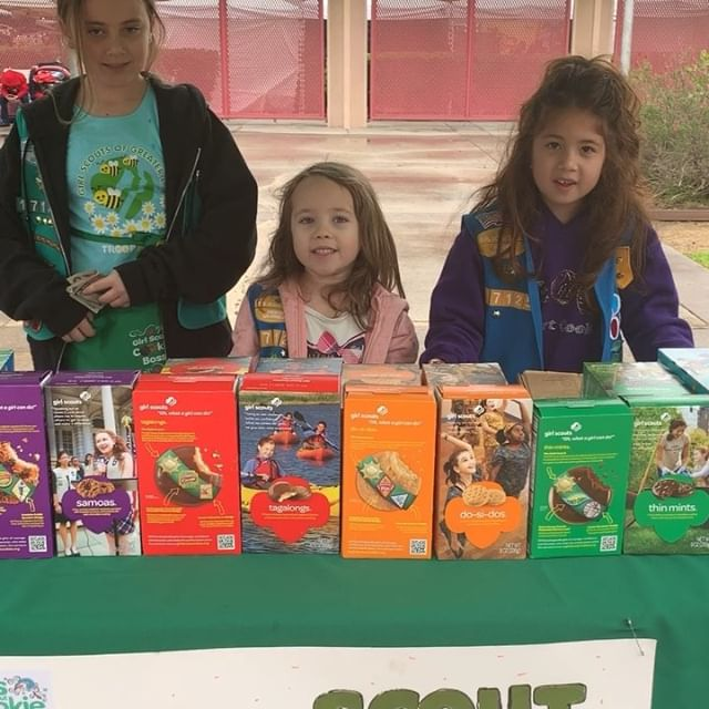 @girlscoutsla is here at #melrosetradingpost today...be sure to stop by and get some delicious cookies. Special surprise @vivienlyrablair is here... #cookies #girlscout #girl #birdbox #treats #melrose #shoplocal #losangeles #vivienlyrablair